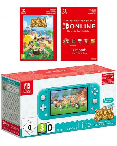 Nintendo Switch Lite, turkizen + Animal Crossing Bundle
