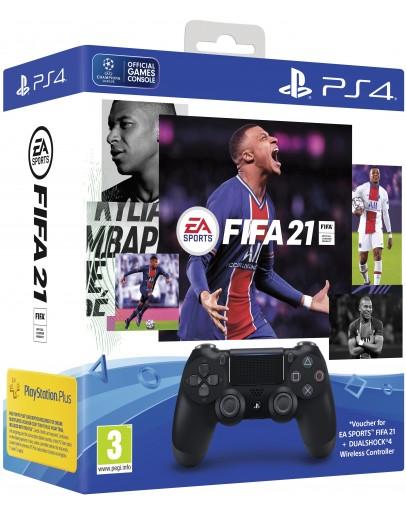 Playstation 4 DualShock 4 Brezžični Kontroler + FIFA 21 digitalna verzija (PS4)