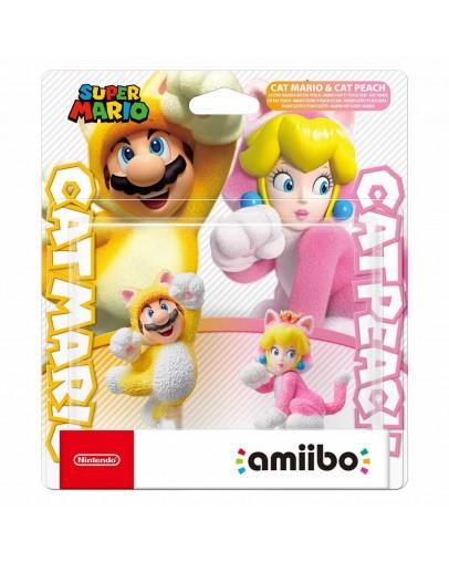 Amiibo Cat Mario & Cat Peach Double Pack