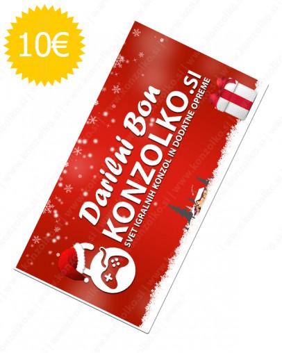 Konzolko darilni bon v vrednosti 10€