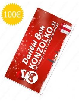 Konzolko darilni bon v vrednosti 100€