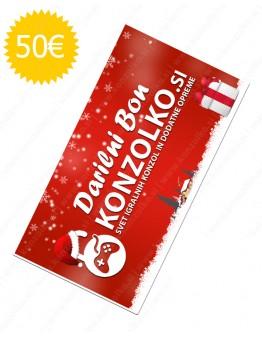 Konzolko darilni bon v vrednosti 50€
