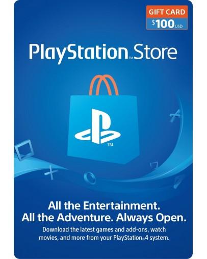 PlayStation predplačniška kartica 100 USD (US)