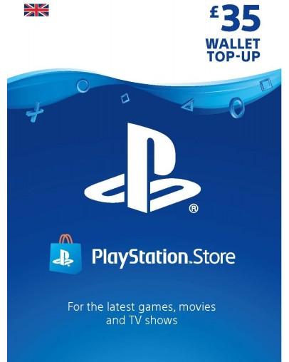PlayStation predplačniška kartica 35 GBP (UK)