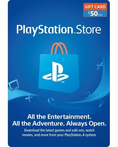 PlayStation predplačniška kartica 50 USD (US)