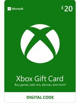Microsoft Xbox predplačniška kartica 20 GBP (Xbox Live Gift Card)
