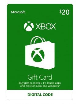 Microsoft Xbox predplačniška kartica 20 USD (Xbox Live Gift Card)