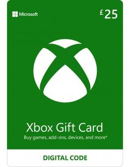 Microsoft Xbox predplačniška kartica 25 GBP (Xbox Live Gift Card)