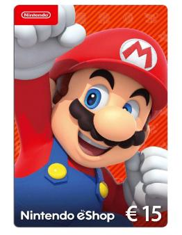 Nintendo eShop Card 15 EUR (Switch/WiiU/3DS/2DS)