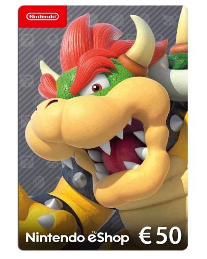 Nintendo eShop Card 50 EUR (Switch/WiiU/3DS/2DS)