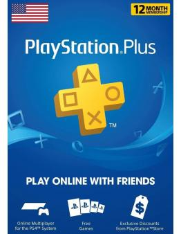 PlayStation Plus PSN+ 365 dni (US)