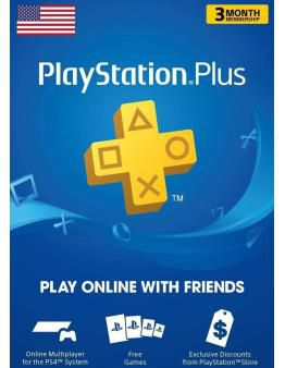 PlayStation Plus PSN+ 90 dni (US)