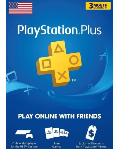 PlayStation Plus PSN+ 90 dni (US)