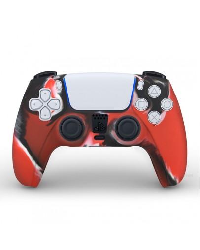 Playstation 5 silikonska prevleka za DualSense 5 kontroler, rdeče kamfulažna (PS5)
