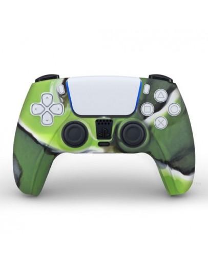 Playstation 5 silikonska prevleka za DualSense 5 kontroler, zeleno kamfulažna (PS5)