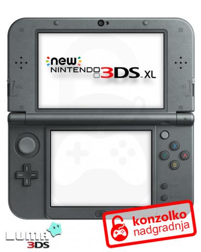 Nintendo NEW 3DS XL Boot9strap + Luma3DS (3DS igre) + Homebrew Launcher + Navodila