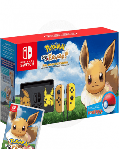 Nintendo Switch Let's Go Eevee Limited Edition + Let's Go Eevee (SWITCH) + Pokeball Plus