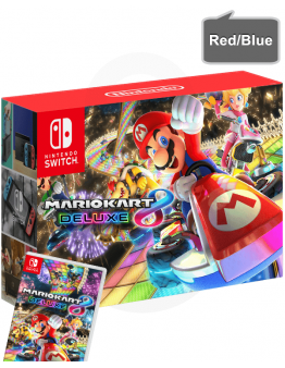Nintendo Switch v2 z rdečim in modrim (red/blue) Joy-Con kontrolerji + Mario Kart 8 Deluxe
