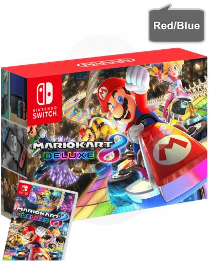 Nintendo Switch v2 z rdečim in modrim (red/blue) Joy-Con kontrolerji + Mario Kart 8 Deluxe
