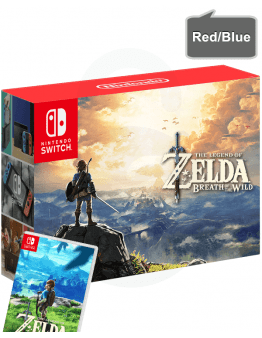 Nintendo Switch z rdečim in modrim (red/blue) Joy-Con kontrolerji + The Legend of Zelda Breath of the Wild
