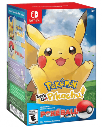 Pokémon Let's Go, Pikachu! (SWITCH) + Poké Ball Plus