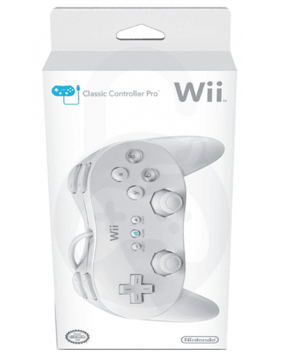 Nintendo Wii / Wii U Classic Controller Pro, bel (kompatibilni)
