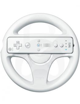 Nintendo Wii / Wii U Mario Kart volan, bel - Rabljeno