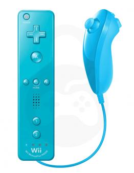 Nintendo Wii / Wii U Remote Plus + Nunchuk, modra (kompatibilna)