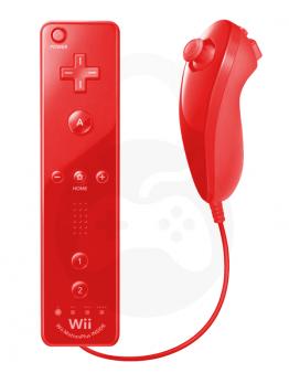 Nintendo Wii / Wii U Remote Plus + Nunchuk, rdeča (kompatibilna)