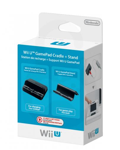 Nintendo Wii U Stojalo za Kontroler + Polnilna Postaja, črn
