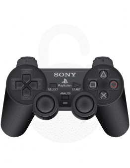 Playstation (PS2) DualShock 2 Brezžični Kontroler, črn