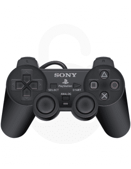 Playstation (PS2) DualShock 2 kontroler, črn