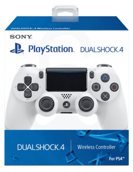 Playstation 4 DualShock 4 brezžični kontroler v2, bel (PS4)