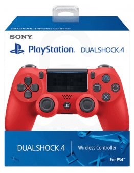 Playstation 4 (PS4) Slim DualShock 4 brezžični kontroler v2 (novi model), rdeč