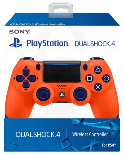 Playstation 4 (PS4) Slim DualShock 4 brezžični kontroler v2 (novi model), Sunset Orange
