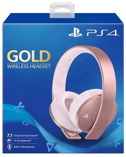 Playstation 4 (PS4) Gold Brezžične Slušalke, Rose Gold