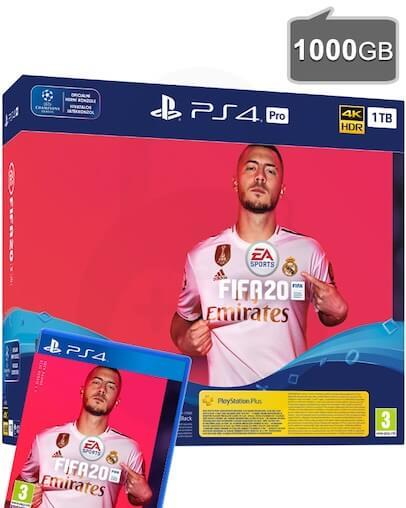 PlayStation 4 (PS4) PRO 1TB + FIFA 20