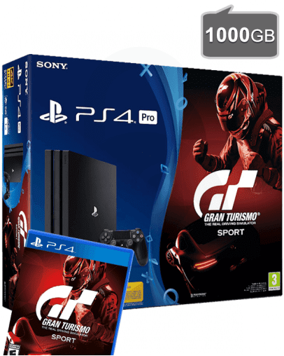 PlayStation 4 (PS4) PRO 1TB + Gran Turismo Sport
