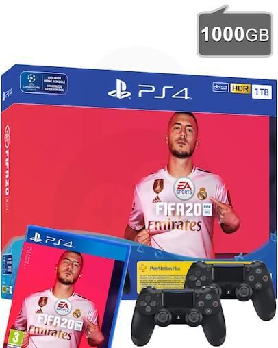 PlayStation 4 (PS4) Slim 1000GB + FIFA 20 + Dodatni PS4 Kontroler