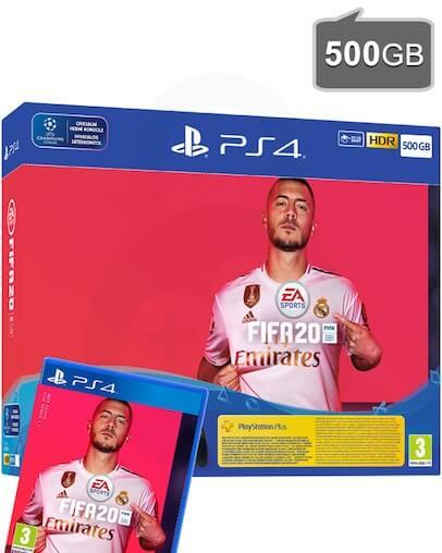 PlayStation 4 (PS4) Slim 500GB + FIFA 20