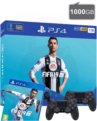 PlayStation 4 (PS4) Slim 1000GB + FIFA 19 + Dodatni PS4 Kontroler