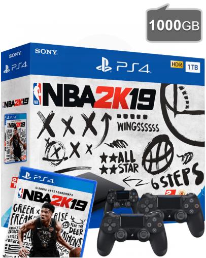 PlayStation 4 (PS4) Slim 1000GB + NBA 2K19 + Dodatni PS4 Kontroler