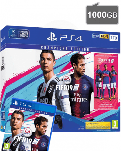 PlayStation 4 (PS4) Slim 1000GB + FIFA 19 Champions Edition