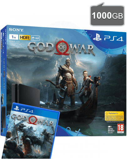 PlayStation 4 (PS4) Slim 1000GB + God of War