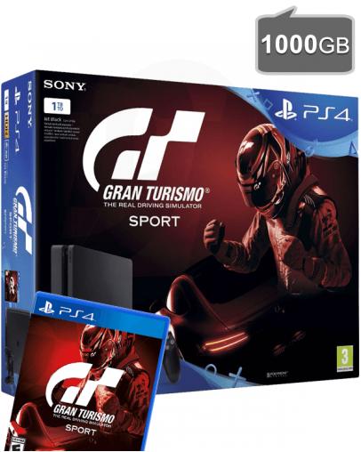 PlayStation 4 Slim 1000GB + Gran Turismo Sport (PS4)