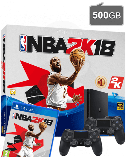 PlayStation 4 (PS4) Slim 500GB + NBA 2K18 + Dodatni PS4 Kontroler