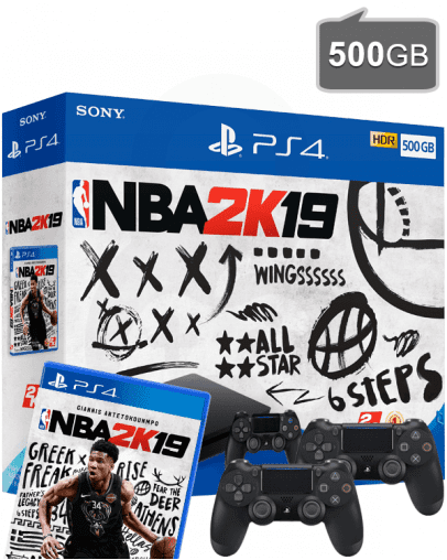 PlayStation 4 (PS4) Slim 500GB + NBA 2K19 + Dodatni PS4 Kontroler