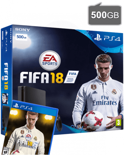 PlayStation 4 (PS4) Slim 500GB + FIFA 18