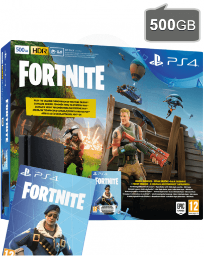 PlayStation 4 (PS4) Slim 500GB Fortnite Battle Royale Bundle - PlayStation Božič 2018