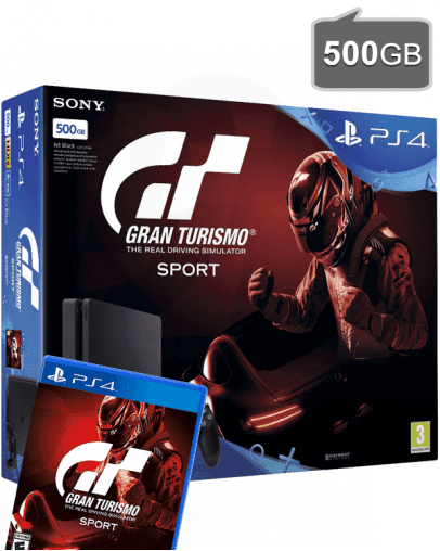 PlayStation 4 Slim 500GB + Gran Turismo Sport (PS4)